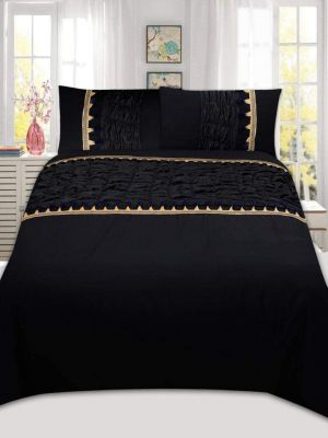 AmigoZone Fancey Lace Desinger Duvet Cover Set with Pillow Cases